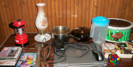 Table of Garage Sale Items