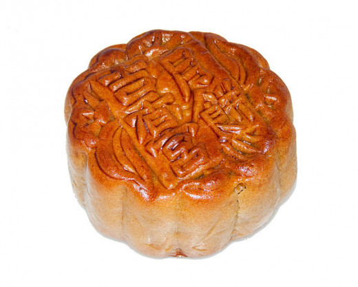 Mooncake - a classical Chinese pastry customarily enjoyed during the Mid-Autumn Festival