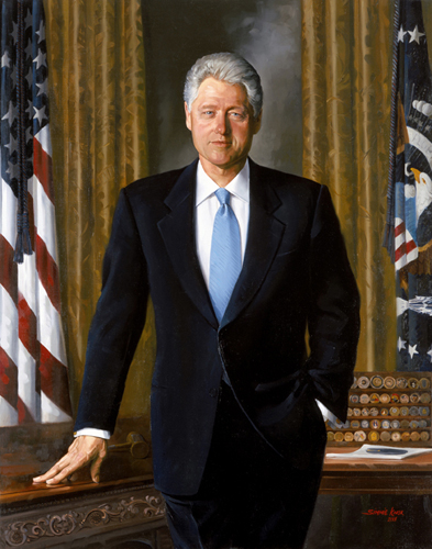 William Jefferson Clinton - Presidential portrait. 42nd President of the United States (1993-2001), 2004