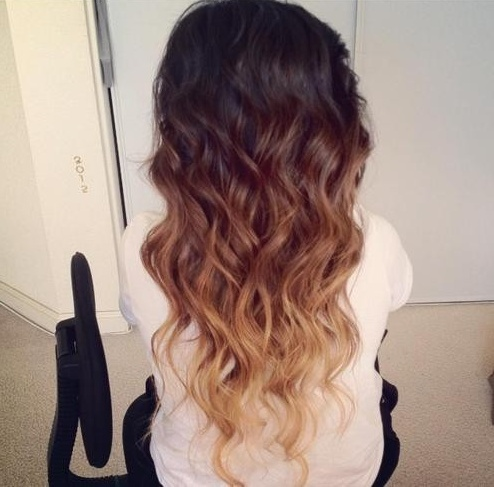 Ombre hair colour