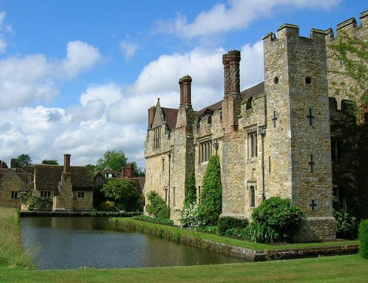 Hever Castle, the home of Anne Boleyn. Her spirit is said to still walk through the castle and the beautiful grounds.