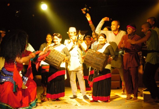 A scene from Nepali Musical titled Dreams of Peach Blossoms