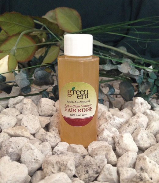 Apple Cider Vinegar Hair Rinse with Aloe, Green Tea and Essential Oils