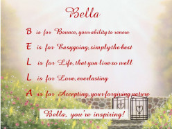 Acrostic Name Poems For Girls Names -B