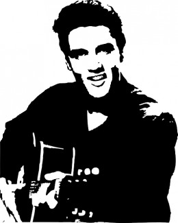 Elvis Presley. Even my 13th cousin is available in clip art!