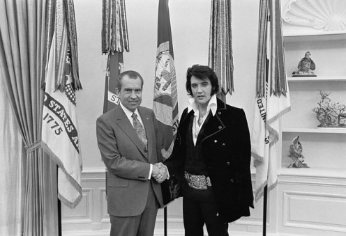 Cousin Elvis with President Richard M. Nixon in a 1970 White House visit.