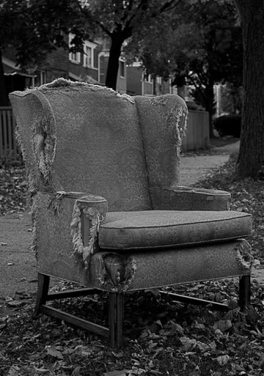 Threadbare Chair from Rachel flickr.com