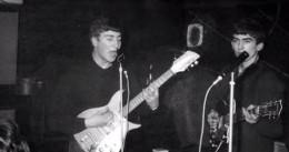 """The Beatles in 1962 doing """"Money""""."""