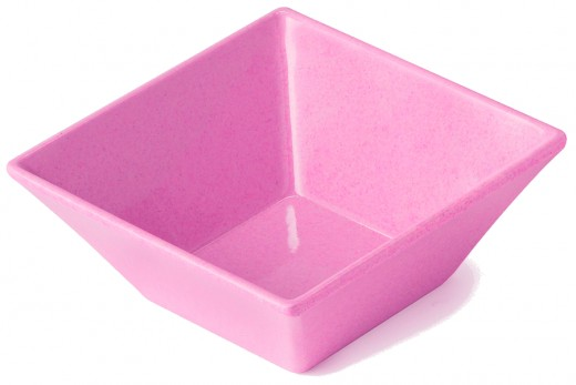 Square bowls are often shaped as pyramidal frustums.