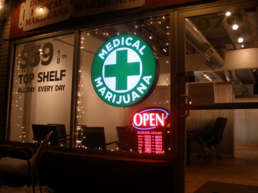 One of many medicinal marijuana dispensaries