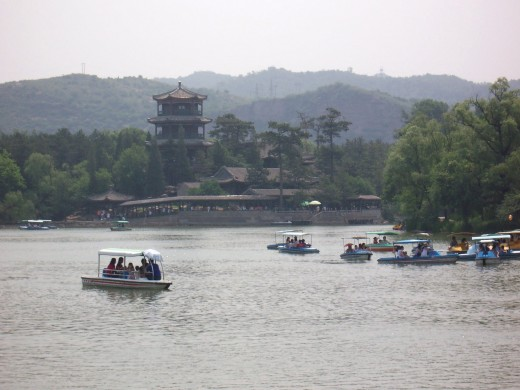 Historic pagoda in the Imperial Summer Resort
