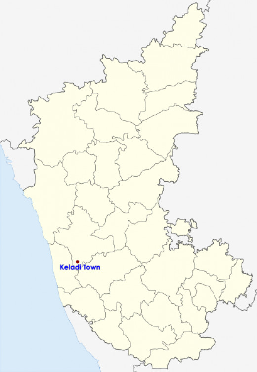 Keladi Town Location