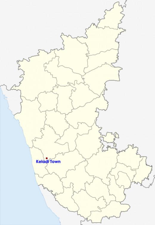 Keladi Town Location