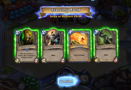 Don't like your starting hand?  Discard it.
