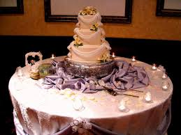 The cake is the centrepiece on the table and other décor is not necessary.