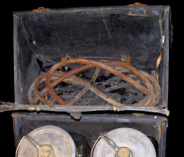 This antique embalming kit is available for purchase from Pandoras Parlor
