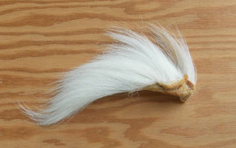 White bucktail hair