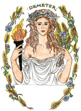 Demeter, goddess of Motherhood