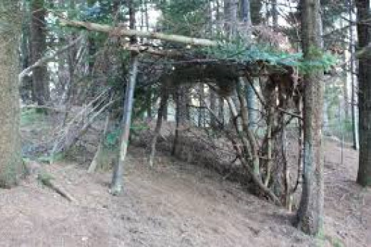 Get outside and build a simple fort with kids hubpages for Homemade forts outdoors