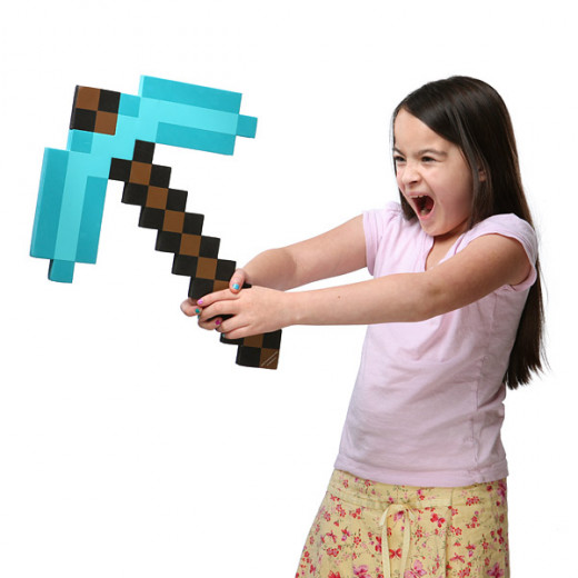 Foam. Fun. Fans will love it. Bask in the glory of having your very own Minecraft diamond pickaxe!