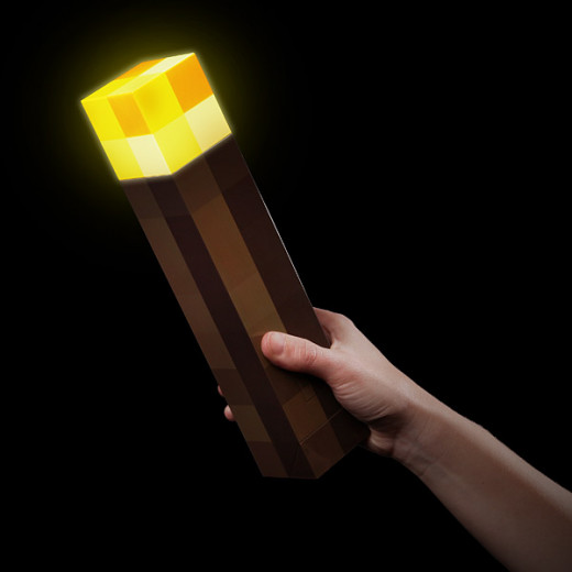 Light up the way with the Minecraft Light-Up Torch. Life-size and ready to be used!