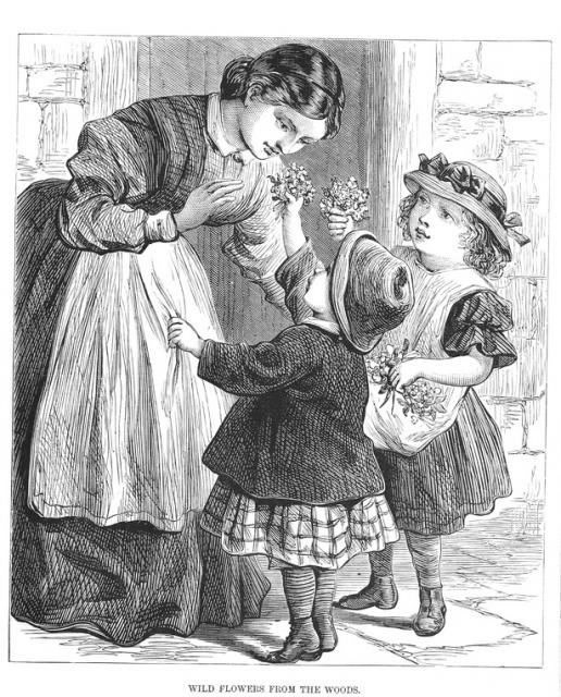 Children Giving Their Mother Flowers