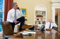 President's Obama Foot On The Resolute Desk...