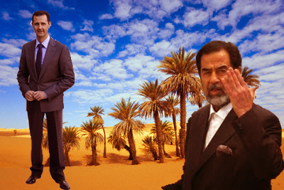 photoshop of Bashar Assad and Saddam Hussein