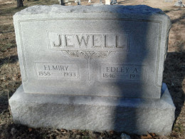 Edley Jewell never made it next to his wife, Elmiry and headed to California instead.