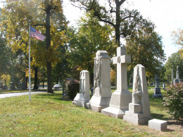 The final resting place of Union General William Tecumseh Sherman and his family at Calvary Cemetery in St. Louis, MO.