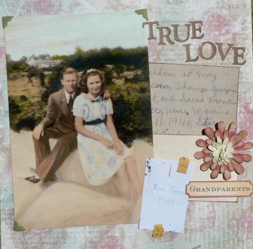 create a beautiful grandparents scrapbook