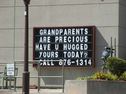Grandparents are precious, have you hugged yours today?