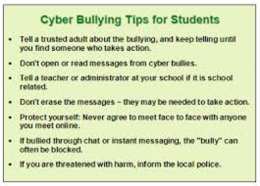 Tips for stopping cyber bullying