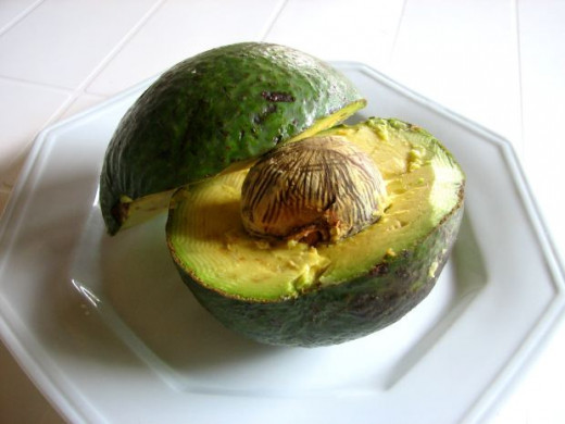 An avocado cut in half - how tempting!