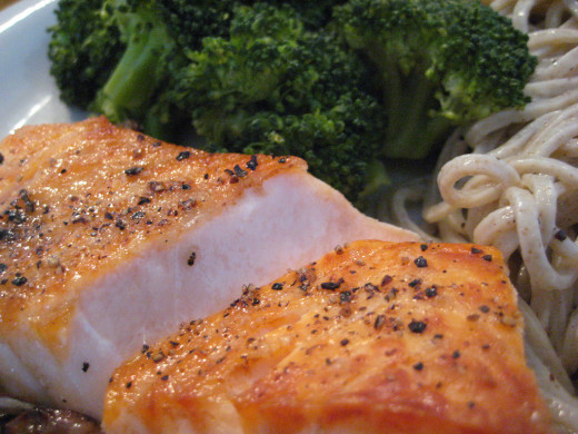 Salmon has omega-3 fatty acid that's essential for optimum brain performance and memory.