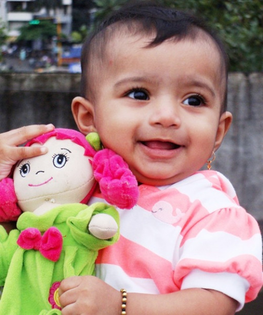 A Kid with her doll
