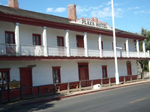 Plaza Hotel. San Juan Bautista State Historic Park.
