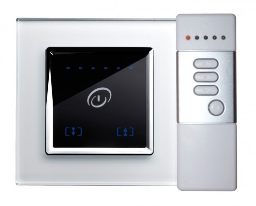 The futuristic RetroTouch dimmer is one in a line of modern dimmer switches.