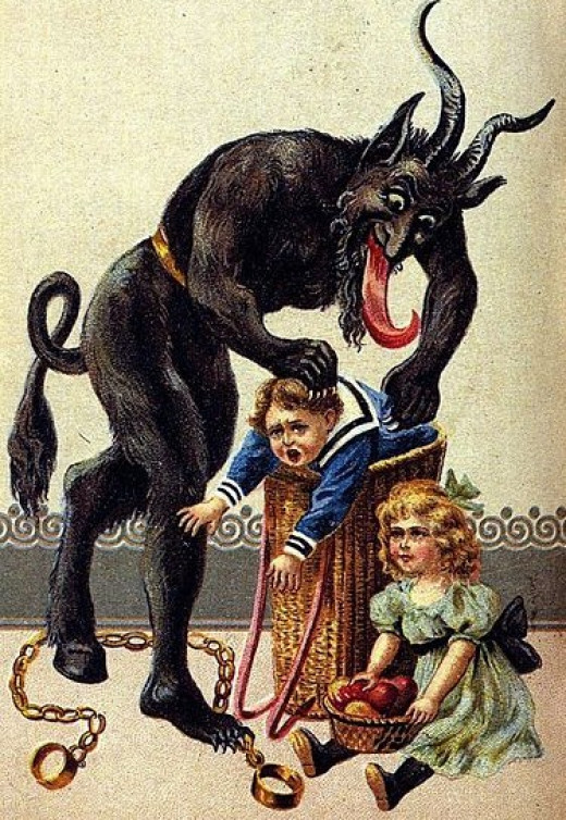 The Yule Goat was a malignant figure at Christmas time in some cultures.