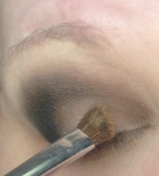 Step Two: Apply the golden color you your bottom lid.