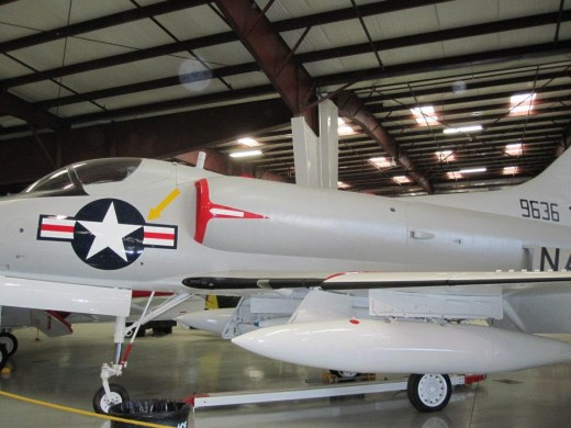 The A-4 Skyhawk was one of the planes used by the US air force during the air fighting over Vietnam.