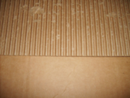 An example of corrugated cardboard