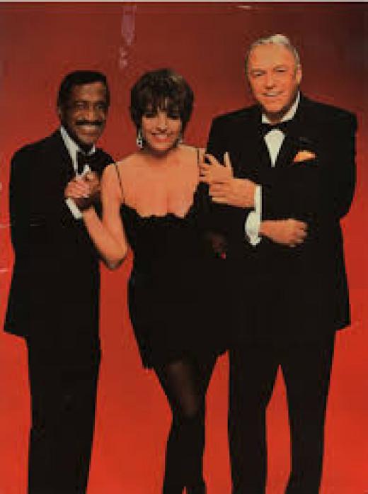 Sammy Davis Jt., Liza Minneli, Frank Sinatra