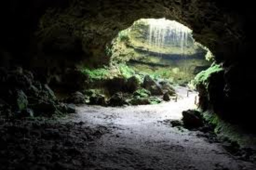 The largest commercial cave opening in the world is located at Cathedral Caverns. It is 25 feet tall and 128 feet wide.