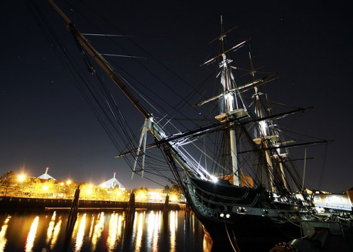 The USS Constitution at Boston