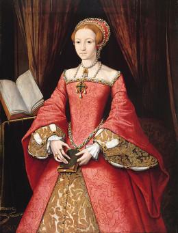 The young Lady Elizabeth Tudor around 1546
