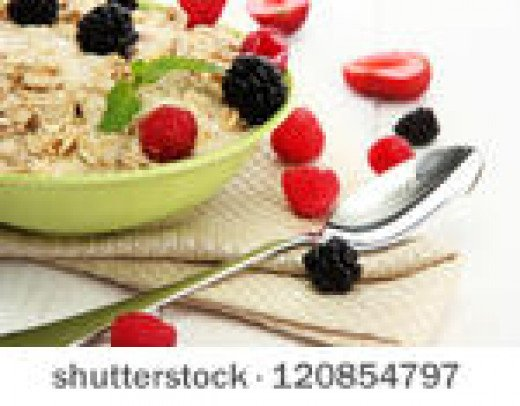 Berries are wonderful on oatmeal and are packed with antioxidants.
