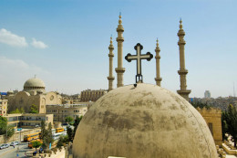Mosques and churches standing side by side in the Soulimanya neighborhood of Aleppo, Syria.  (photo: Spencer Osberg)