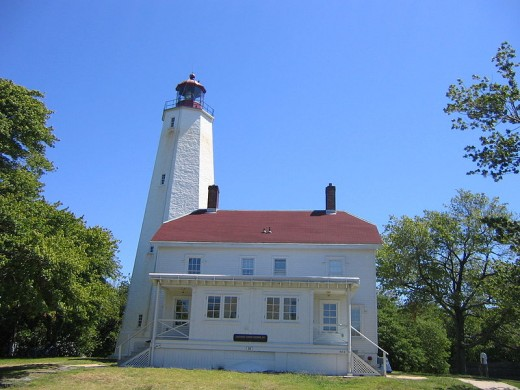 The oldest working octagonal Sandy Hook lighthouse built in 1764