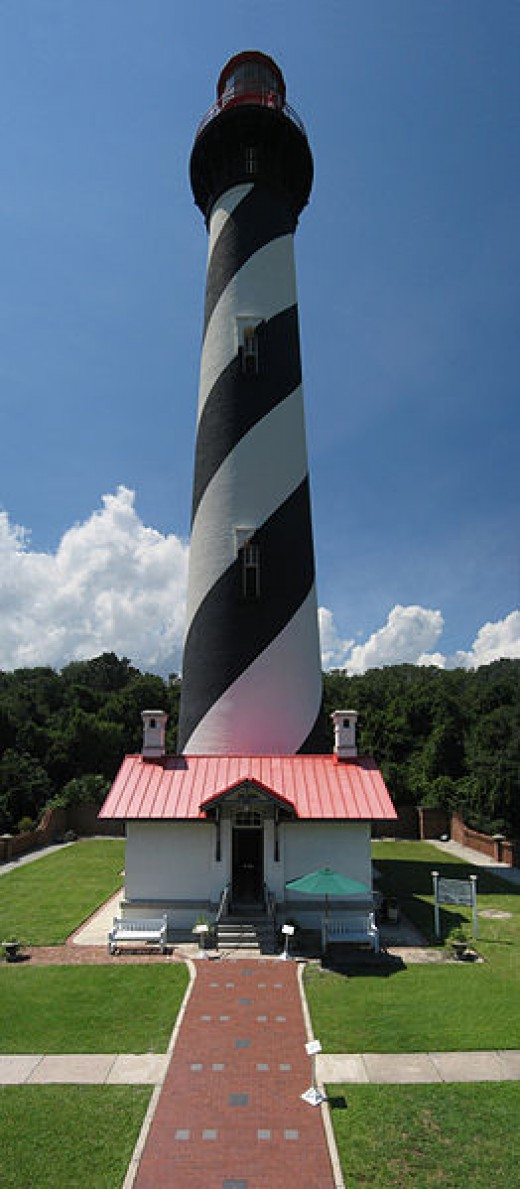 The St. Augustine lighthouse built in 1586